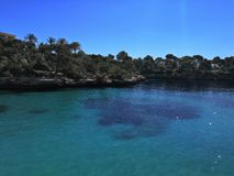 Seaview卡拉市费雷拉蓝色海天空蔚蓝 免版税库存图片