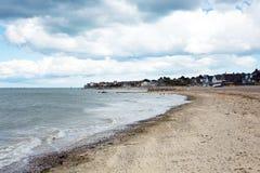 Seaview海滩俯视Solent的怀特岛郡近对Ryde 库存图片