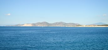 Seaview över den Saronic golfen i Grekland Royaltyfria Bilder