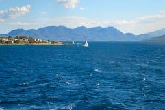 Seaview över den Saronic golfen i Grekland Arkivfoton