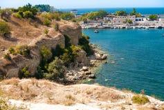 Seaview на городе от высокой скалы Стоковые Изображения