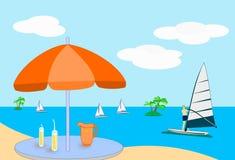 seaview освежения иллюстрация штока