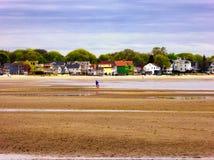 Seaview abriga perto da praia Connecticut das areias da prata imagens de stock