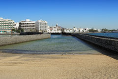 Arrecife city, Lanzarote Island, Canary Islands, Spain Royalty Free Stock Photos