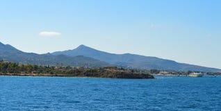 Seaview auf Aegina-Insel in Griechenland, im Juni 2017 Lizenzfreies Stockfoto
