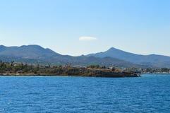 Seaview auf Aegina-Insel in Griechenland, im Juni 2017 Lizenzfreie Stockfotos
