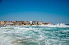 Seaview avec des vagues Photographie stock