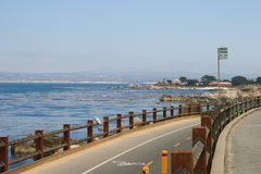 Seaview and bicycle path Royalty Free Stock Image