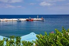 Seaview bij het Eiland van Kreta in de zomer Royalty-vrije Stock Afbeelding