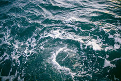 Seaview. Blue seaview with waves and foam Stock Image