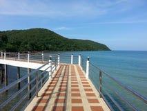 Seaview. Bridge sea bluewater Stock Images