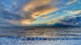 Seaview. Calm sea against dramatic sky Royalty Free Stock Photo