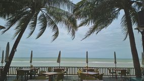 Seaview at Cha-am Thailand Royalty Free Stock Photography