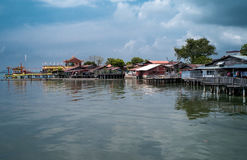 Seaview from the Chew Jetty. A morning seaview of Penang island from Chew Jetty Royalty Free Stock Image
