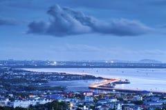 Seaview on chonburi town Stock Photo
