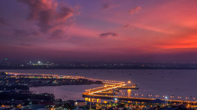 Seaview on chonburi town Stock Image