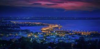 Seaview on chonburi town Royalty Free Stock Photos