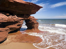 Seaview Cliffs Arch, PEI, Canada Royalty Free Stock Photos