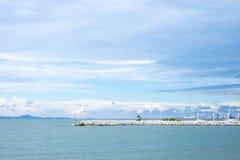 Seaview in clouldy dag Stock Fotografie