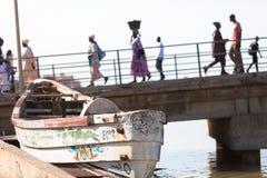 Seaview con la barca Fotografia Stock Libera da Diritti