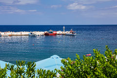 Seaview at Crete Island in summer Royalty Free Stock Image