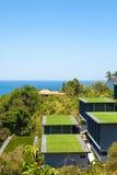 Seaview d'en haut, côte tropicale avec l'hôtel Image libre de droits