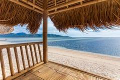 Seaview da cabana de bambu fotografia de stock
