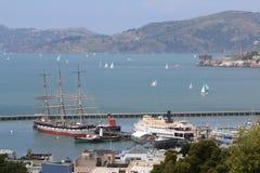 Seaview davanti alla baia San Francisco, California, U.S.A. della montagna Fotografia Stock Libera da Diritti
