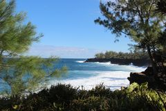 Seaview de au sud de Reunion Island images stock