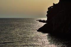 Seaview de la tarde Fotografía de archivo libre de regalías