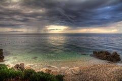 Seaview de la tormenta foto de archivo libre de regalías