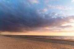 Seaview de Noordwijk Zee aan, os Países Baixos Fotos de Stock Royalty Free