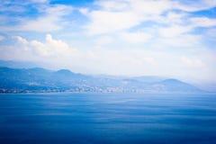 Seaview del castello di Alanya fotografie stock libere da diritti
