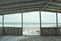 Seaview di inverno Fotografia Stock