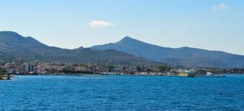 Seaview en la isla de Aegina en Grecia, junio de 2017 Fotografía de archivo libre de regalías