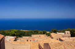 Seaview from Erice Stock Images