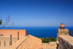 Seaview from Erice Royalty Free Stock Image