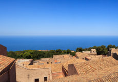 Seaview from Erice Stock Photo