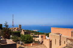 Seaview from Erice Stock Photography