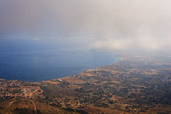 Seaview from Erice Stock Image