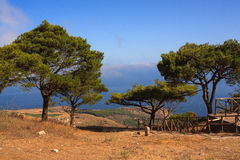 Seaview from Erice Royalty Free Stock Photos