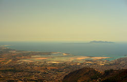 Seaview from Erice Royalty Free Stock Images