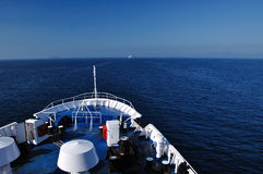 Seaview from ferry to Elba Island, Italy Stock Image