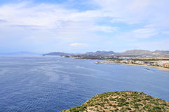 Seaview from fortress Aguilas Stock Photo