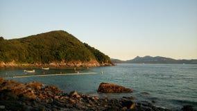 Seaview. Hongkong sunset ocean relax Royalty Free Stock Photos