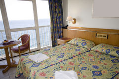 Seaview hotel room malta Royalty Free Stock Image