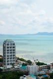 Seaview in Jomtien, Pattaya Royalty-vrije Stock Afbeelding