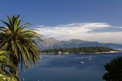 Seaview in Kerkira, Korfu Stock Foto