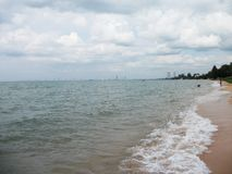 Seaview. Landscape of beach Royalty Free Stock Photos