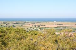 Seaview-Landschaft von Loreto-Hügel, Marken, Italien Stockbild